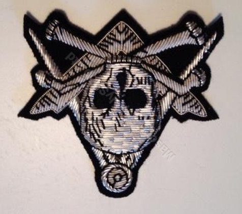Lodge Apron Badges Square and Compass with Mortality Symbol