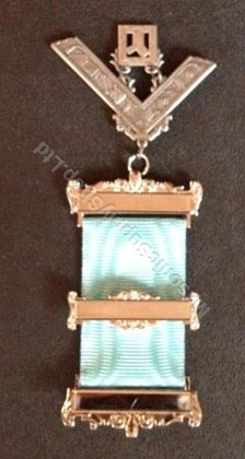 Past Master Breast Jewel with Symbols -Silver 3 bar