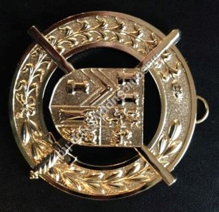 Grand Pursuivant   Collar Jewel   Coat of Arms with  Crossed Baton and Sword