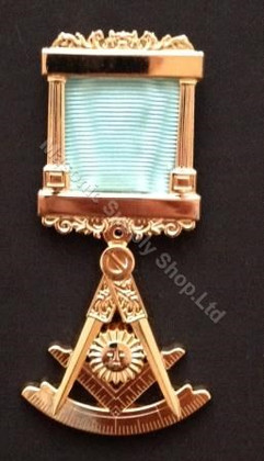Past Master Breast  Pillar Jewel with Protractor-2