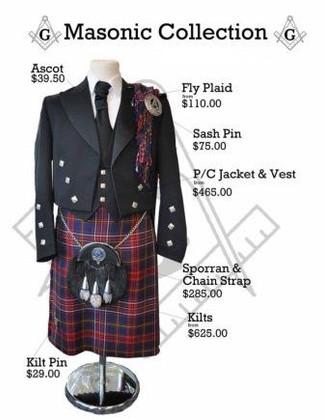 Masonic Kilt Package
