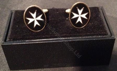 Knight Templar  Maltese Cross Cufflinks