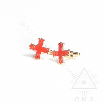 Red Cross of Constantine Cuff links