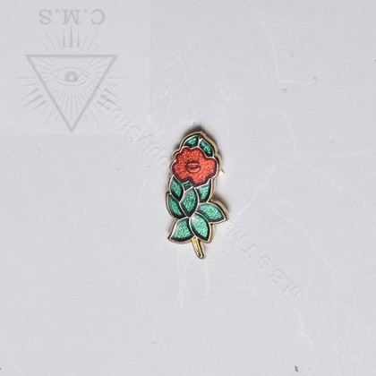 Rose Croix Rose  Lapel pin