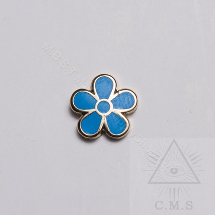Masonic Forget Me Not Lapel pin
