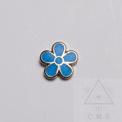 Masonic Forget Me Not Lapel pin