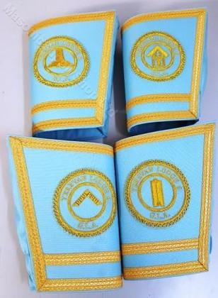 Lodge Officer Gauntlets/Cuffs with Emblem  Gold