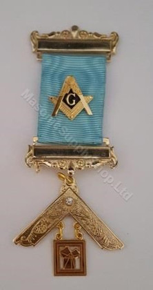 Past Master Breast Jewel with Square and Compass