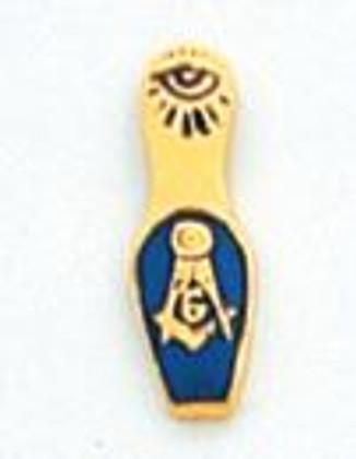 GOLD SLIPPER LAPEL PIN MST1191T