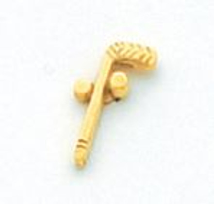 Gold Two Ball and Cane Lapel Pin MST2424T