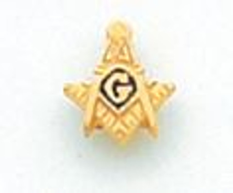 Gold Square & Compass Lapel Pin MST937T