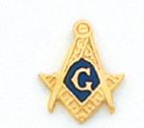GOLD SQUARE AND COMPASS LAPEL PIN MST904T