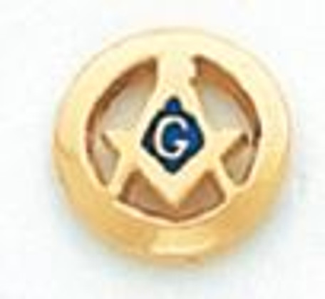 Round Gold Square & Compass Lapel Pin HOM5725T