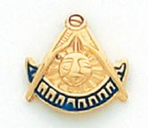 GOLD PAST MASTER LAPEL PIN MSTPM-12T