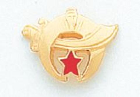 GOLD SHRINE LAPEL PIN MSTSH-12T