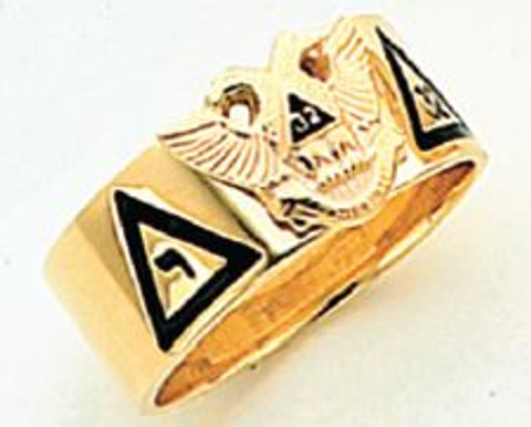 GOLD SCOTTISH RITE RING HOM312NE-X