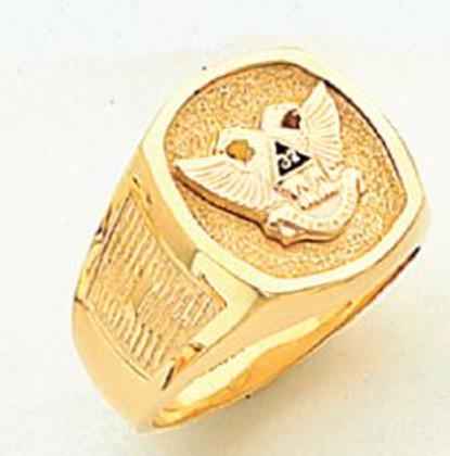 GOLD SCOTTISH RITE RING HOM319NE-X