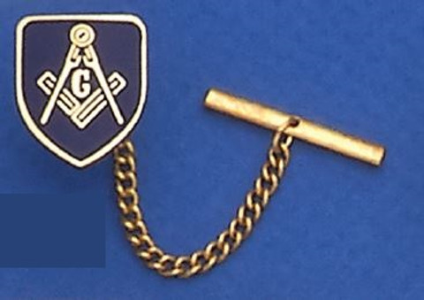 GOLD PLATED SQUARE AND COMPASS TIE TAC MAS1562TT