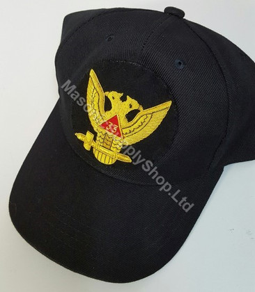 Deluxe Scottish Rite Baseball Hat 33rd Wings Up