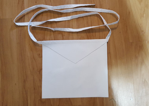 Entered Apprentice  Plain White Lambskin  Apron  13 X 15 Cotton Belt