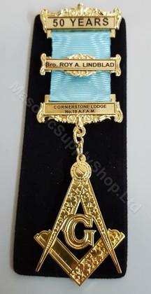 Masonic 50 Year member Jewel