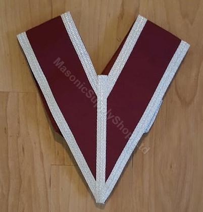 Grand Stewards Collar  Crimson Red with Silver trim