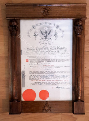 Masonic Picture Frame   Masonic  Certificate Frame