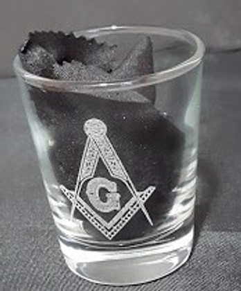 Engraved Shot Glass with Sq & C