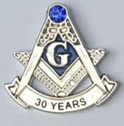 30 year Masonic Lapel Pin
