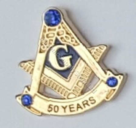 Masonic Anniversary 50 Year Lapel Pin