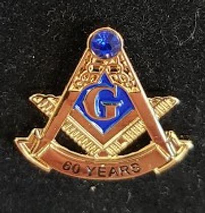 Masonic 60 Year Membership Lapel Pin