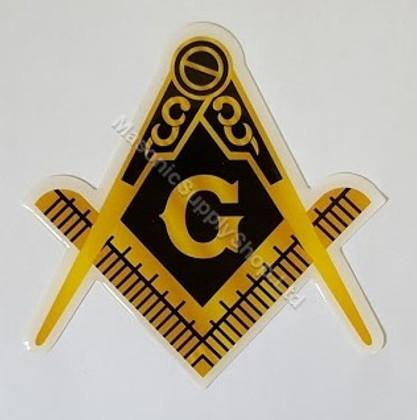 Masonic Car Decal