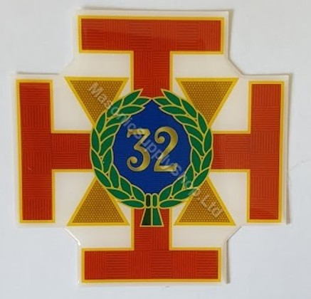 Scottish Rite 32nd Degree Car Decal