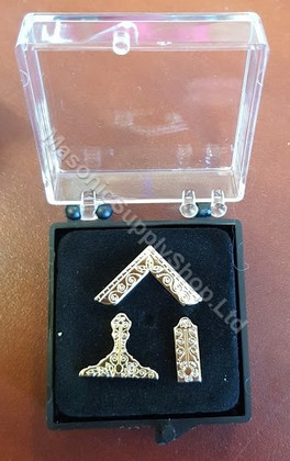 Set of Three Officers Lapel Pins  Gold Color