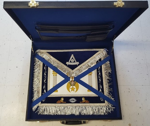 Shrine Custom Past Master  Apron and Case Special