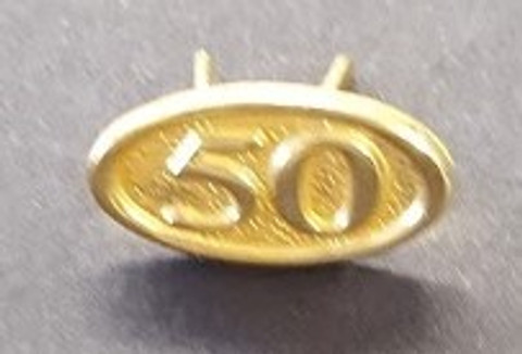 50 year jewel ribbon pin