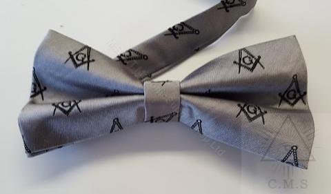 Gray Masonic Bow Tie