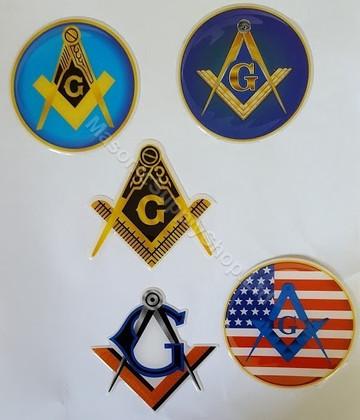 Masonic Car decals  Variety Pack-2   5 Decals