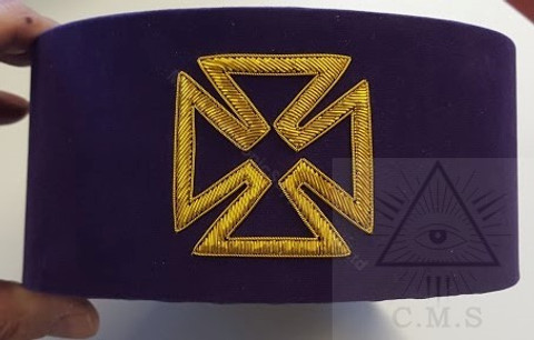Knight Templar    Grand Prior Hat  Purple