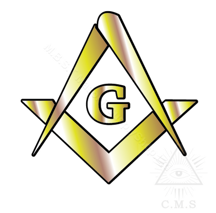 Car Decals Square & Compass Gold