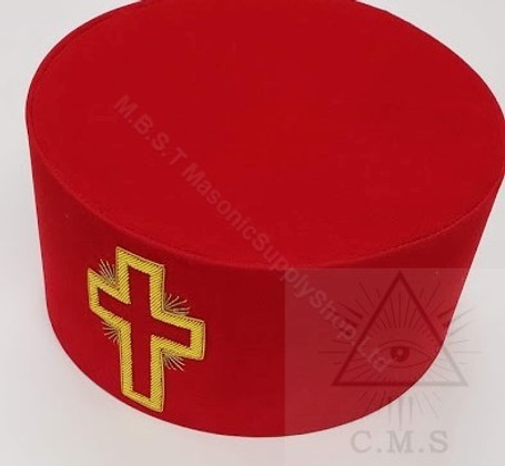 Knight Templar Hat   Passion Cross  Gold