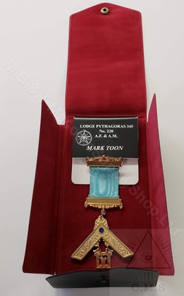 Masonic name badge with Jewel
