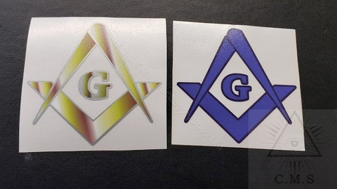 Masonic Square and Compass  car decals