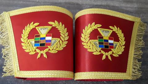 Royal Arch High Priest  Cuffs Gauntlets