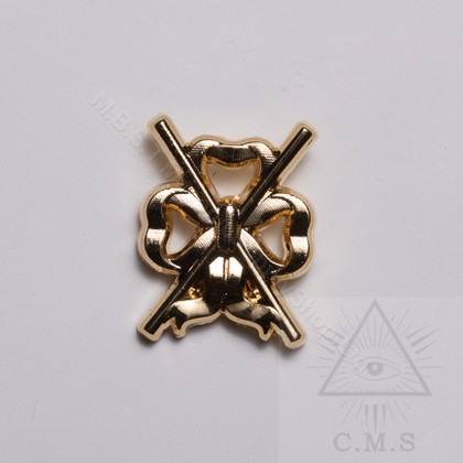 Lodge Director of Ceremonies  Lapel Pin  Crossed Batons
