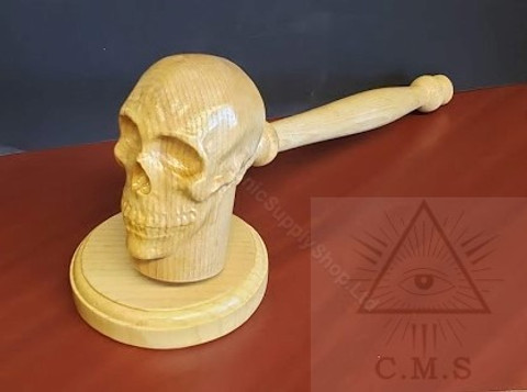 Skull Head Gavel & Sounding Block