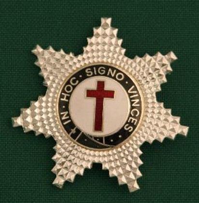 Knight Templar Member Star Jewel Silver