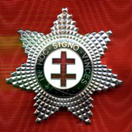 Knight Templar Preceptor Star Jewel Silver
