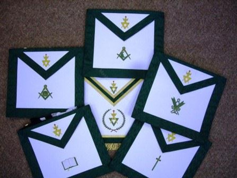 Allied Masonic Degrees Officers Apron Set  (call for pricing)