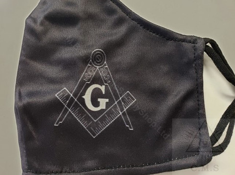Face Mask with Masonic Emblem   Lodge Special   10 Pack!